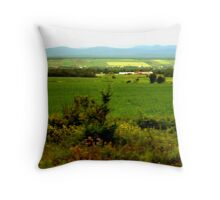 The green gardens of Quebec Throw Pillow