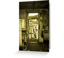 Riding the Caboose Greeting Card