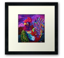 Rooster on the Horizon Framed Print