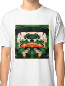 Flipped Photo, green, orange, white, abstract original Classic T-Shirt