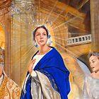 """Panel """"Salve Regina"""" (detail) by Oscar Casares"""