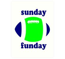 Super Bowl Sunday Funday - Seattle Art Print