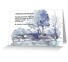 Affirmation for CREATIVITY Greeting Card