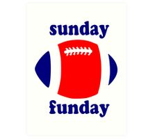 Super Bowl Sunday Funday - New England Art Print