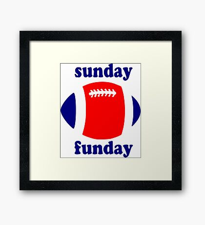 Super Bowl Sunday Funday - New England Framed Print