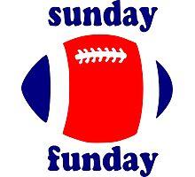 Super Bowl Sunday Funday - New England Photographic Print