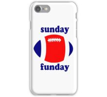 Super Bowl Sunday Funday - New England iPhone Case/Skin