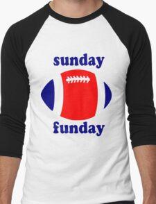 Super Bowl Sunday Funday - New England Men's Baseball ¾ T-Shirt