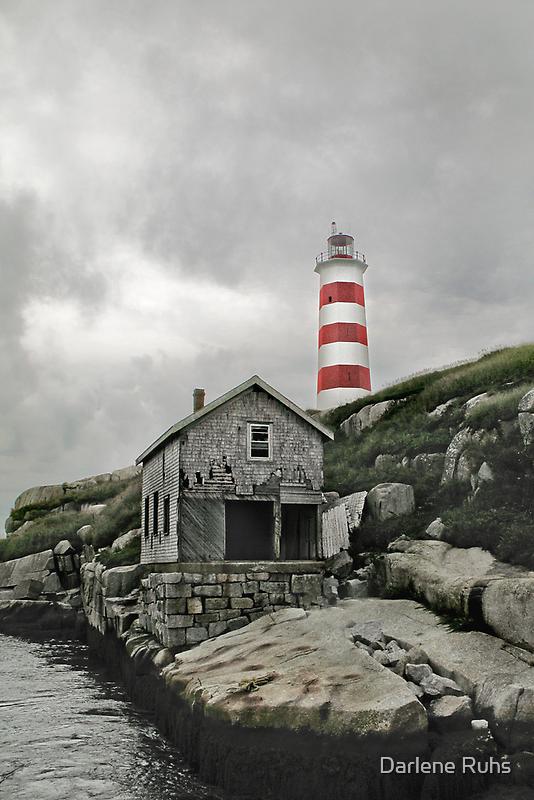 Abandoned - The Sambro Island Lighthouse by Darlene Ruhs