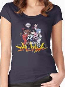 Evangelion rebuild group Women's Fitted Scoop T-Shirt