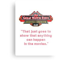The Great Movie Ride Metal Print