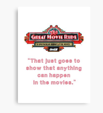 The Great Movie Ride Canvas Print