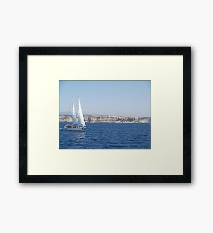Sailing in the Straits Framed Print
