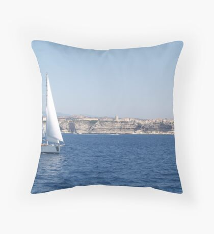 Sailing in the Straits Throw Pillow