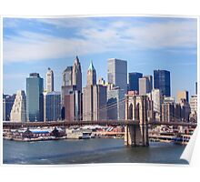 New York City & Brooklyn Bridge Poster