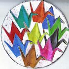 Paper Cranes For Luck by RobynLee