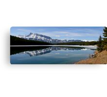 Mount Rundle, Rocky Mountains Canvas Print