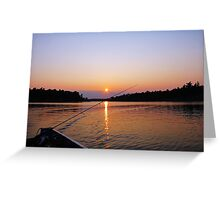 Tranquility On The French River Greeting Card