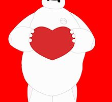 Baymax with Heart by Ztw1217