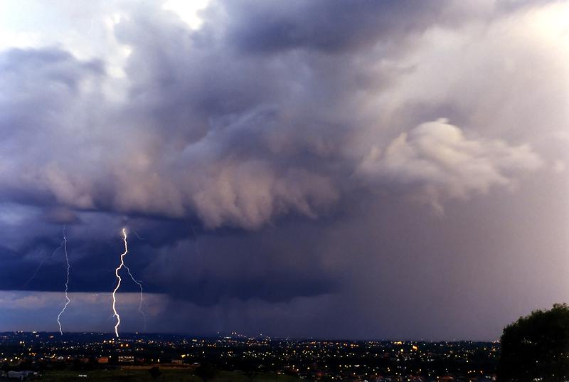 Sydney Purple Sunset Lightning by Michael Bath