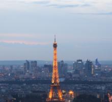 Paris At Twilight Sticker