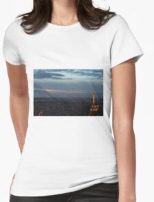 Paris at Dusk Womens Fitted T-Shirt