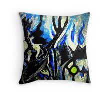 ghost night chandelure, lampent, litwick Throw Pillow