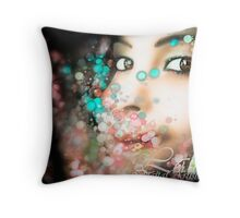 Colours choose what our eyes see. Throw Pillow