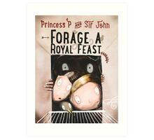 Forage a Royal Feast Cover Art Print
