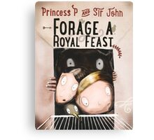 Forage a Royal Feast Cover Canvas Print