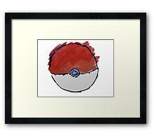 Scribble Pokeball Framed Print