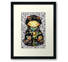 Little Multicolour Teapot Floral  Framed Print
