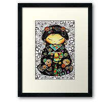Little Multicolour Teapot Floral  Framed Print