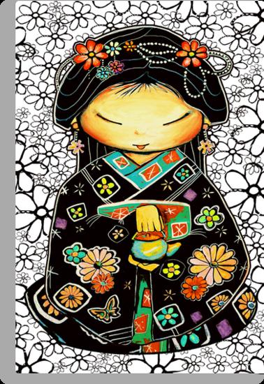 Little Multicolour Teapot Floral  by © Karin  Taylor