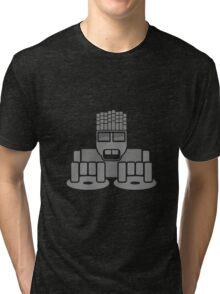 DJ Equalizer (Grey Print) Tri-blend T-Shirt
