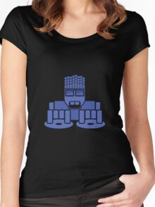 DJ Equalizer (Blue Print) Women's Fitted Scoop T-Shirt