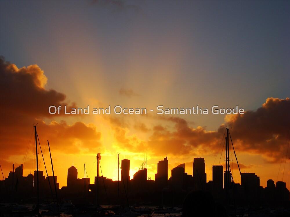Beams of Light over Sydney by Of Land & Ocean - Samantha Goode
