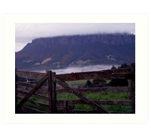 photoj Tas, Mt Roland, Early Morning Fog Art Print