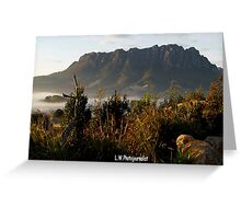 photoj Tas, Mt Roland Foggy Sunrise Greeting Card