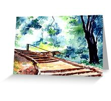 Steps to eternity Greeting Card