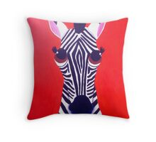 Zebra of Good Fortune Throw Pillow