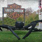 Halloween Spider At Harley Davidson, Riverdale NJ by Jane Neill-Hancock