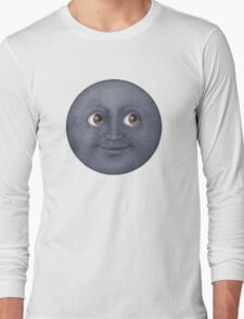 Moon Emoji Long Sleeve T-Shirt