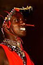 Portrait of a Young Maasai, or Masai, Moran of Kenya & Tanzania   by Carole-Anne