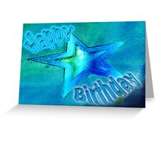 Bright Star Happy Birthday Card Greeting Card