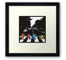 beatles nintndo mash up Framed Print
