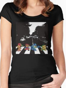 beatles nintndo mash up Women's Fitted Scoop T-Shirt