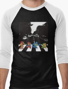 beatles nintndo mash up Men's Baseball ¾ T-Shirt