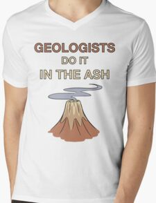 Geologists Do It in the Ash Mens V-Neck T-Shirt