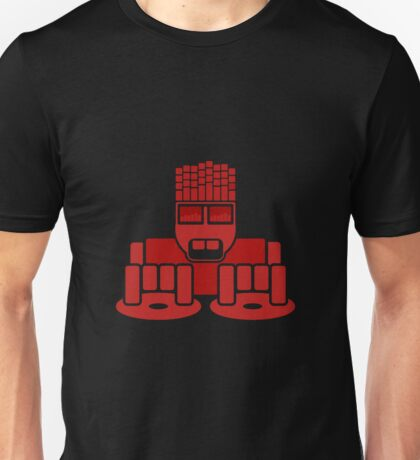 DJ Equalizer (Red Print) Unisex T-Shirt
